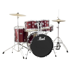 "Pearl Roadshow Complete Drum Set w/ 20"" Bass Drum 