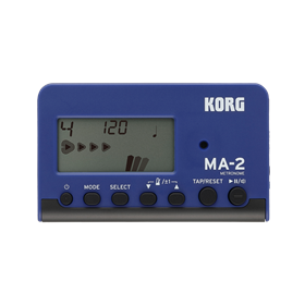 Korg MA2 Digital LCD Metronome, Blue/Black