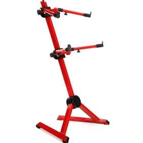 Quik Lok SL930 Fully Adj. 2 Tier Stand, Red