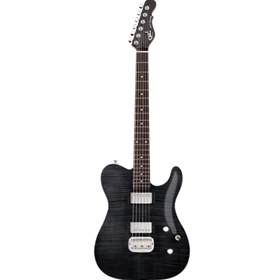 G&L Tribute ASAT Deluxe Trans black Carved Top