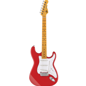 Tribute Legacy, Fullerton Red, 3ply White pg, Maple Fingerboard