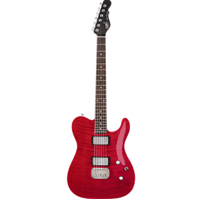 G&L Tribute ASAT Deluxe Trans Red Carved Top