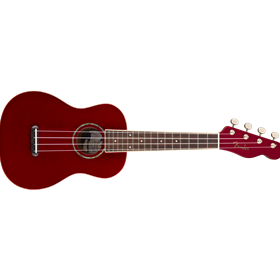 Zuma Classic Concert Uke, Walnut Fingerboard, Candy Apple Red