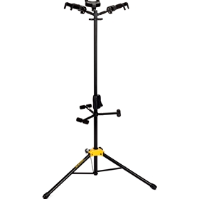 Hercules | AUTO GRIP SYSTEM (AGS) TRIPLE GUITAR STAND, FOLDABLE BACKREST