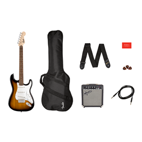 Stratocaster Pack, Laurel Fingerboard, Brown Sunburst, Gig Bag, 10G - 120V