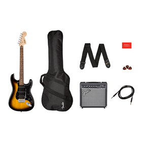 Affinity Series™ Stratocaster® HSS Pack, Laurel Fingerboard, Brown Sunburst, Gig Bag, 15G - 120V