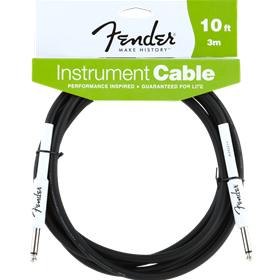 Fender Performance Series Instrument Cable, 10', Black