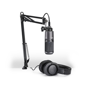 AT2020 Microphone Pack with ATH-M20X, Boom & USB Cable