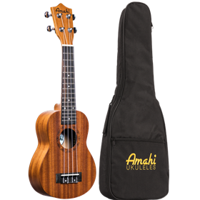 Amahi Traditional Soprano Ukulele w/ Gig Bag