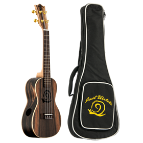 Amahi Concert Ukulele, Ebony Top w/ Electronics and Gig Bag