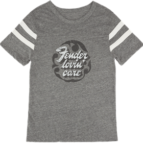 Fender Women's Football T-Shirt, Gray