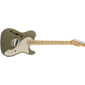American Elite Telecaster Thinline, Maple Fingerboard, Champagne