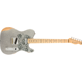 Brad Paisley Road Worn Telecaster®, Maple Fingerboard, Silver Sparkle
