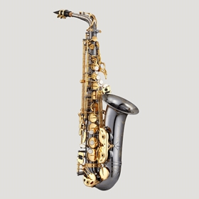 Antigua AS4240BG Powerbell Alto Saxophone | Black Nickel Body w/ Gold Keys