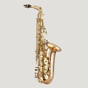 Antigua AS4240RLQ Powerbell Alto Saxophone | Red Brass Body & Lacquer Keys