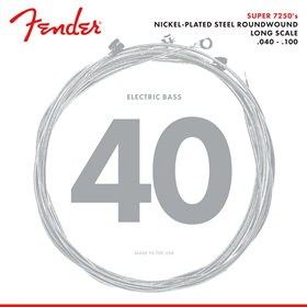 7250 Bass Strings, Nickel Plated Steel, Long Scale, 7250L .040-.100 Gauges, (4)