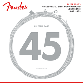 7250 Bass Strings, Nickel Plated Steel, Long Scale, 7250M .045-.105 Gauges, (4)