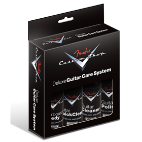Custom Shop Deluxe Guitar Care System, 4 Pack, Black