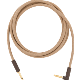 10' Angled Festival Instrument Cable, Pure Hemp, Natural