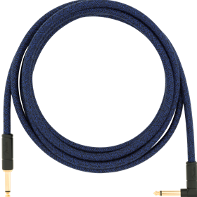 10' Angled Festival Instrument Cable, Pure Hemp, Blue Dream