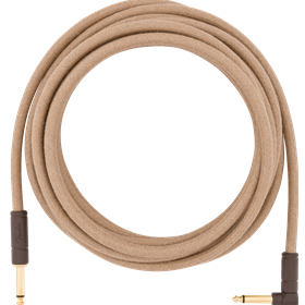 18.6' Angled Festival Instrument Cable, Pure Hemp, Natural