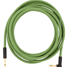 18.6' Angled Festival Instrument Cable, Pure Hemp, Green