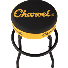 Charvel® Toothpaste Logo Barstool, Black and Yellow, 24""