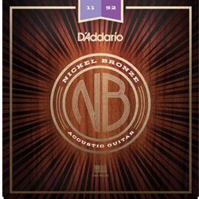 D'Addario Acoustic Guitar Nickel Bronze Custom Lite
