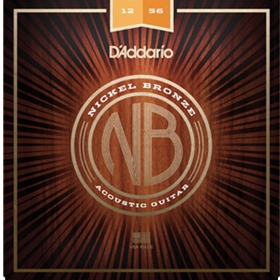D'Addario Acoustic Guitar Nickel Bronze Lite/Medium Bottom