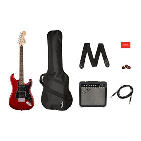 Affinity Series Stratocaster HSS Pack, Laurel Fingerboard, Candy Apple Red, Gig Bag, 15G - 120V