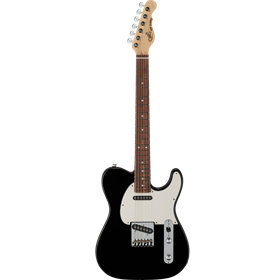 G&L Fullterton Deluxe ASAT Classic Jet Black with Caribbean Rosewood Fingerboard, 3-ply Parchment Pi