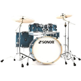 Sonor AQ1 Stage Set, Blue Sparkle (22, 10,12,16, 14 Snare)