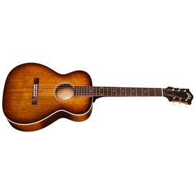 Guild M-25E California Burst Concert Acoustic Guitar, All Mahogany with LR Baggs Electronics