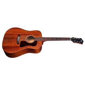 Guild D-20E Natural, American-Made Dreadnought Solid Mahogany Natural Acoustic w/ LR Baggs Pickup