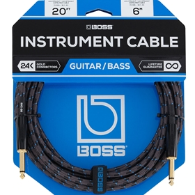 Boss 20' Instrument Cable, 24k Gold Plated Connectors