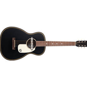 G9520E Gin Rickey Acoustic/Electric with Soundhole Pickup, Walnut Fingerboard, Smokestack Black