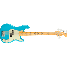 American Professional II Precision Bass® V, Maple Fingerboard, Miami Blue