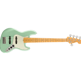 American Professional II Jazz Bass® V, Maple Fingerboard, Mystic Surf Green
