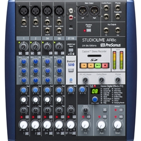 PreSonus Studiolive-AR8C USB-C 8 Channel Hybrid Performance and Recording Mixer