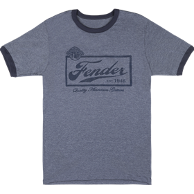 Fender Beer Label Mens T-Shirt, Blue
