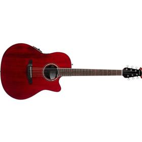 Ovation Celebrity Standard Super Shallow Acoustic-Electric Guitar, Ruby Red