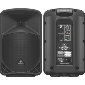 "Active 300-Watt 2-Way 10"" PA Speaker System with Wireless Option"