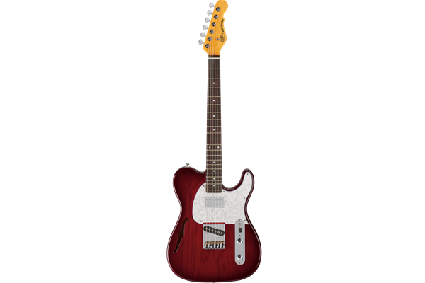 Tribute ASAT Classic Bluesboy Semi-hollow, Redburst with RW