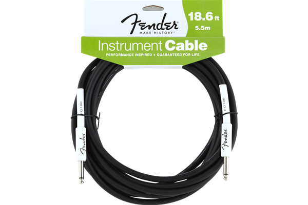 Fender Performance Series Instrument Cable, 18.6', Black