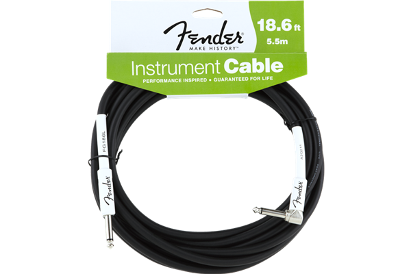 Fender Performance Series Instrument Cable, 18.6', Angled, Black
