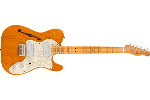 Vintera® '70s Telecaster® Thinline, Maple Fingerboard, Aged Natural