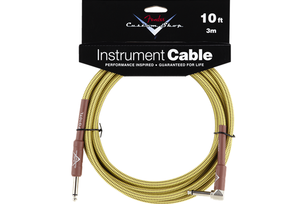 Fender Custom Shop Cable, 10', Tweed, Angled