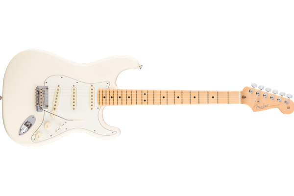 American Pro Stratocaster, Maple Fingerboard, Olympic White