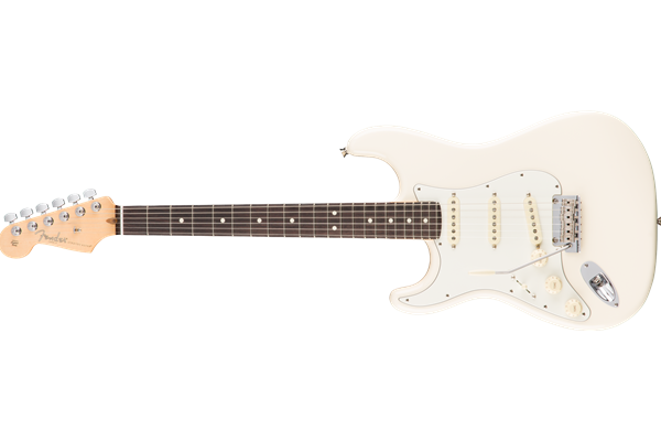 American Pro Stratocaster Left-Hand, Rosewood Fingerboard, Olympic White