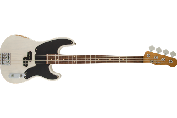 Mike Dirnt Road Worn Precision Bass, Rosewood Fingerboard, White Blonde